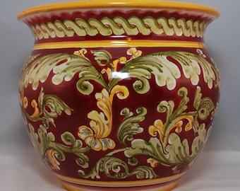 Traditional Sicilian Decorated Vase Planter