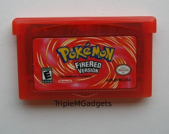 Nintendo GBA Game Pokemon Fire Red Video Game Cartridge