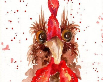 Handsome fella is an original watercolour in a mat ready for you to frame