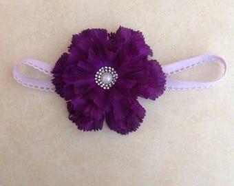 Headband, baby girl headband, baby girl, flower headband, beautiful headband, purple flower