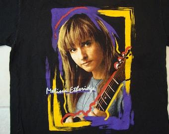 Vintage 90's Melissa Etheridge Singer Concert Tour Fan Black T Shirt Size L