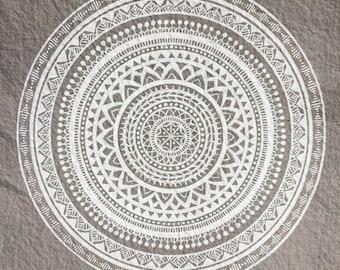 Mandala print / mandala / poster / boho / bohemian / decoration / print / card / handmade / handcrafted / art / drawing / hippie