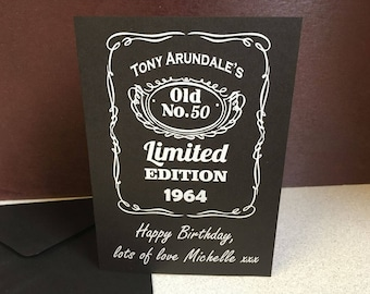 Personalised Jack Daniels Birthday Card - Happy Birthday - Gift - JD