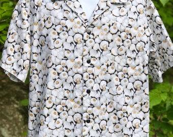 Garlic Lovers' Shirt Men's Hawaiian -Style! Size Large