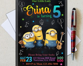 Minion Invitation/Minion Birthday Invitation/Minion Birthday/Minion Birthday Party/Minion Party/Minion Invite/Minion Printable