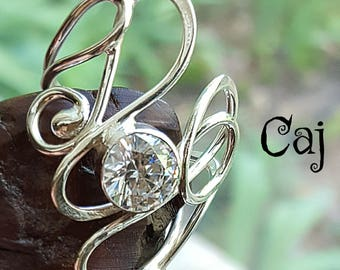 Artisan Statement Ring Sterling Silver CZ
