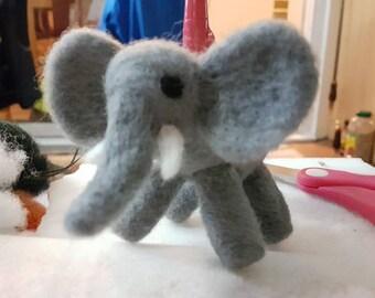 Needle felted elephant.