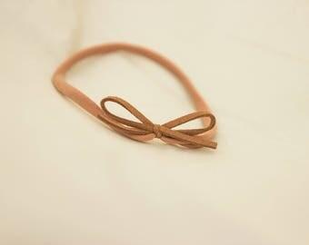 Sandy Brown Bow Headband