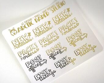 Shop Errands (HW) - FOILED Sampler Event Icons Planner Stickers