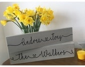 Personalised Hand Painted Free Standing Wooden Sign, Wedding, New Home, Mum, Valentines, Dad, Grandparents, Family, Any Occasion