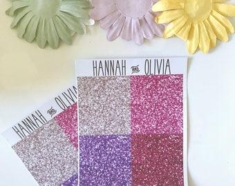 Glitter Headers - ECLP/Happy Planner - pink, Matte Stickers / Planner Stickers