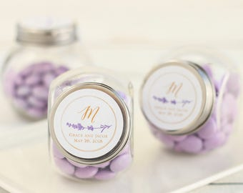 Personalized Wedding Candy Jars