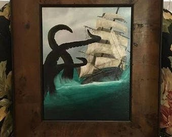 SOLD- Commissioned Old Ship Painting