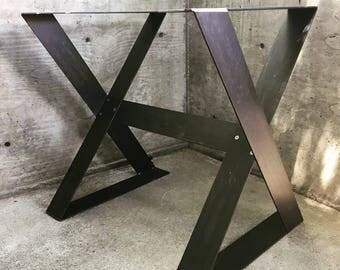 Modern Steel Table Legs,mid Century Modern,steel Legs,metal Table Legs,