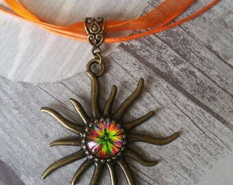 colorful Sun necklace