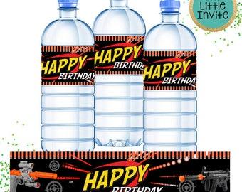 Dart Drink Bottle Labels // Dart Birthday // Dart Invite // Dart Invitation // Dart War // Dart Wars Battle