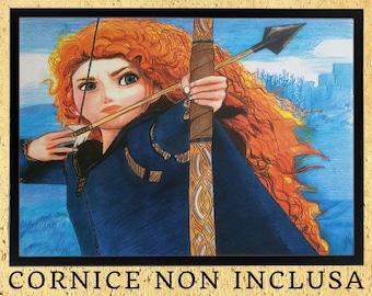 Merida ( Ribelle - The Brave) - Art Print