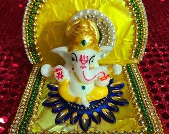 Ganesha Idol on pedestal