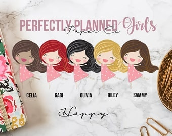 015 | Happy | Planner Girls // Character Planner Stickers