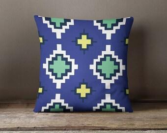 Blue Nordic Print Pillow