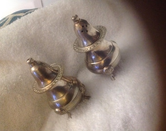 Silver shaker salt and pepper  from India