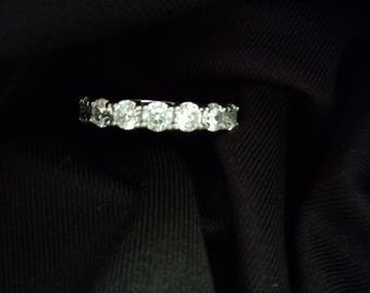 Sterling silver anniversary band