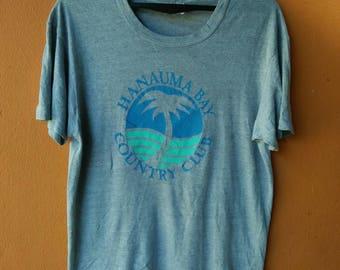 Vintage hanauma bay hawaii