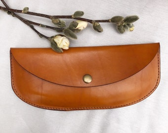 LARGE - Genuine Leather  Purse  - Minimalist Leather Purse  - Handmade Leather Clutch - Leather Clutch Purse