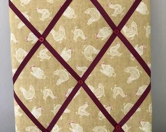 Chicken Fabric Memo Board