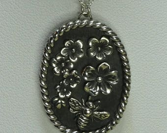 Sterling Silver Bee in the Buds