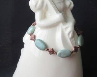 Bracelet One of a Kind Copper Celtic/Gemstone Smart Fashion 081