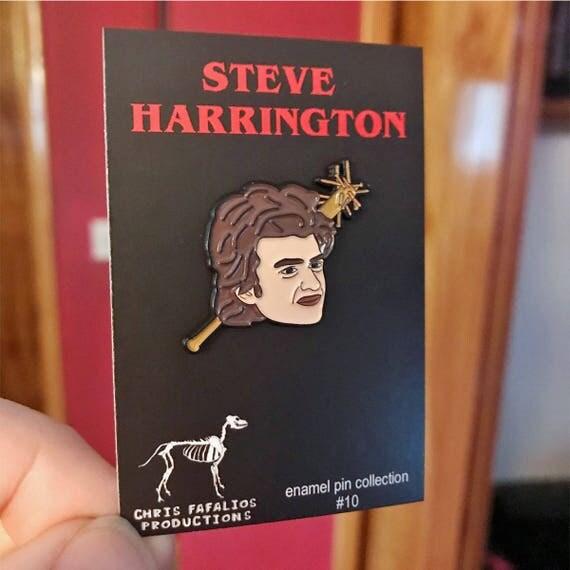 Beautiful Steve Harrington From Stranger Things Enamel Pin