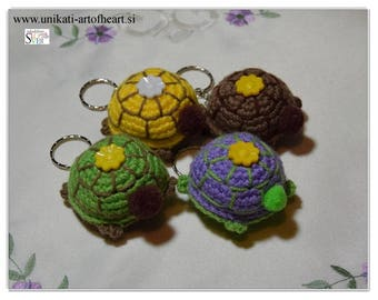 Crochet Turtle / Turtle Keyring / Turtle Keychain / Gift Amigurumi / Turtle Pendant / Amigurumi Turtle / Tiny Turtle / Car Accessories / Toy