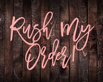 Rush Order Listing