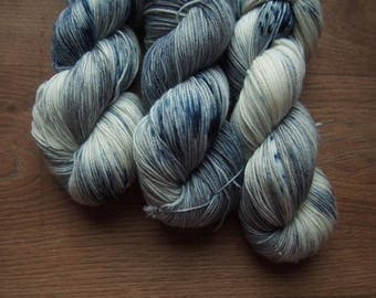 Cold Stone Superwash Merino - hand dyed yarn