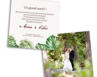 10 x Tropical wedding invites