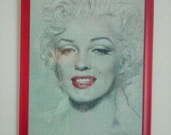 picture puzzle framed Marilyn Monroe