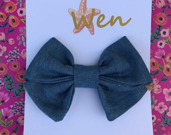 Girl Bows with Nylon headband or alligator clip