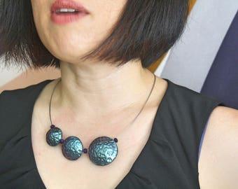Metallic Trio Bubbles Necklace