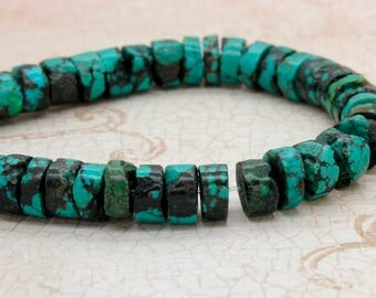 Turquoise Roundelle Smooth Round Natural Gemstone Loose Beads - Full Strand (8mm, 10mm)