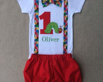 The Very Hungry Caterpillar Birthday Outfit , Caterpillar Smash Cake Outfit, Caterpillar First Birthday