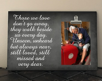 In Loving MEMORY Frame, Those we Love don't Go Away They Walk Beside us Every Day, BEREAVEMENT Gift, Lost Loved One Photo Frame