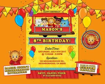 Daniel Tiger Invitation, Daniel Tiger Birthday, Daniel Tiger Party, Daniel Tiger's Neighborhood Invitation