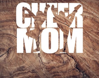 Cheer, Cheer mom, decal, car decal, sticker