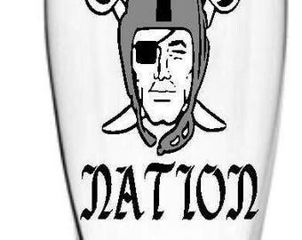 Raider Nation Beer Glass