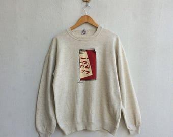 Vintage Sweatshirt Java Tea  Nice Design