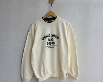 Michiko London Sweatshirt Embroidery Spellout