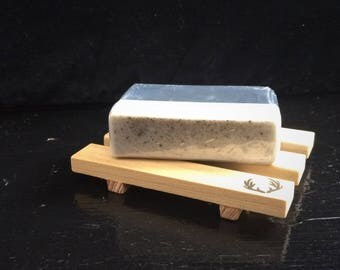 Handmade Soap – Tea Tree, Frankincense, Charcoal – No Detergents, Artificial Fragrances, Colors – Luxury Black & Grey Soap – Excellent Gift!