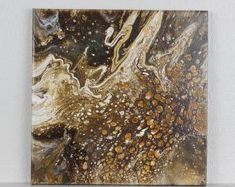 """Acrylic Fluid Painting """"Centaurus"""" 12""""x12"""""""