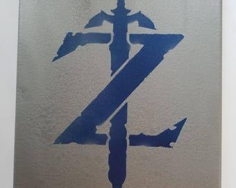 Legend of Zelda Spray Paint Canvas
